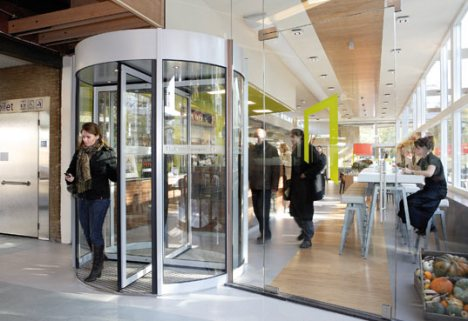 Revolving Door that Generates Energy