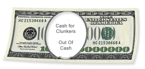 no more cash for clunkers