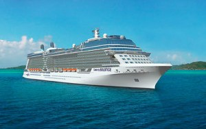 "The Celebrity Solstice - the first cruise ship with solar panels and a ""green"" roof"