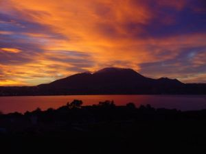 The magic of a New Zealand sunset