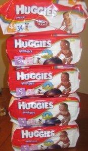 Huggies display
