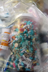 Unused meds gathered in earlier Take-back program  Photo Courtesy of VA Guard Public Affairs