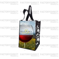 Factory Direct Promo Custom Wine Tote