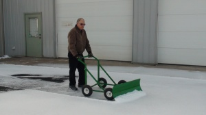 The Snow Bully is the greener human-powered snow removal choice