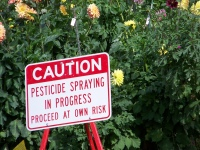Pesticides sign