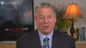 Al Gore at Google Hangout 2013