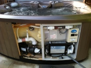 ECOsmarte's installed spa system, photo courtesy of Eco Nor Cal
