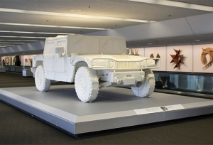 This huge Styrofoam Hummer by Andrew Junge is even more awesome when seen in person