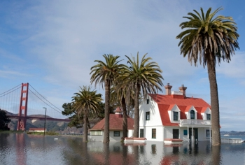 San Francisco in 5 years with the projected sea level rise