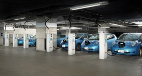 Nissan's Vehicle to Building program will power buildings during peak demand times