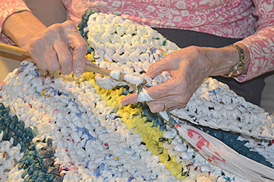 A Growing National Trend Turns Plastic Bags Into Bedding