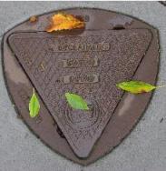 Reclaimed water manhole cover, photo by Marianna Zavadovskay, from Wikimedia