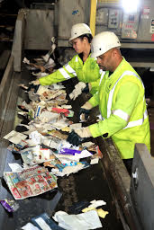 California's goal to achieve a 75 percent recycling rate would create thousands of green jobs, photo courtesy of Recology