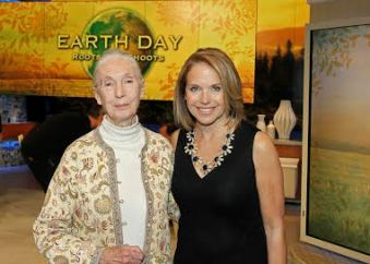 Jane Goodall and Katie Couric