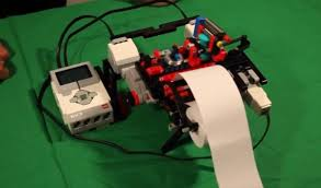 This Braille printer was built using Legos