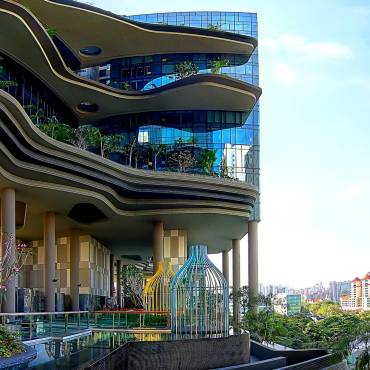 Singapore's Park Royal on Pickering, photo by WOHA21