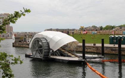 Water Wheel in Baltimore harbor