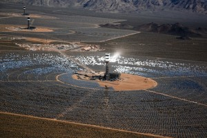 Ivanpah - the world's largest solar array, in the Mojave Desert