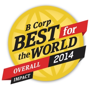 Benefit corporations like ChicoBag achieve this award by ranking in the top 10 percent of a particular category