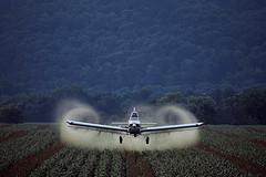Crop Duster Spraying Fields