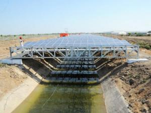 India's first-canal-top solar power plant