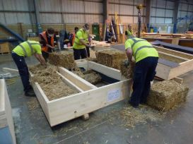 Straw bale homes are prefabricated