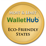 WalletHub most-and-least-eco-friendly-states-badge