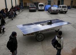 Bolivia's solar car