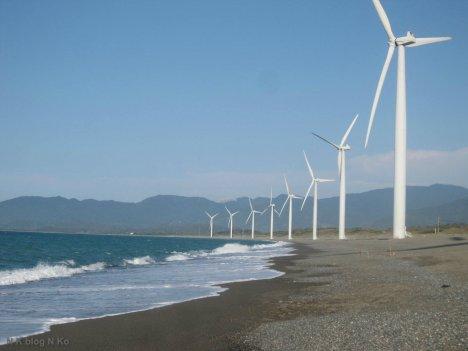Wind turbines on the coastline
