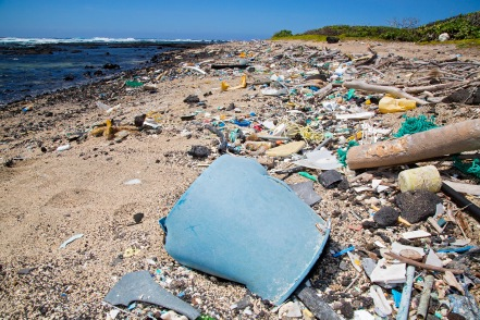 Macro plastics found in our oceans, photo by Peter Charaf, courtesy of Race for the Water Foundation