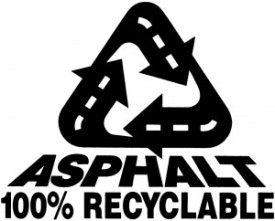 Recycled Asphalt 100 percent graphic