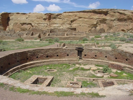 Chaco Canyon's Chetro Ketl Great Kiva plaza.