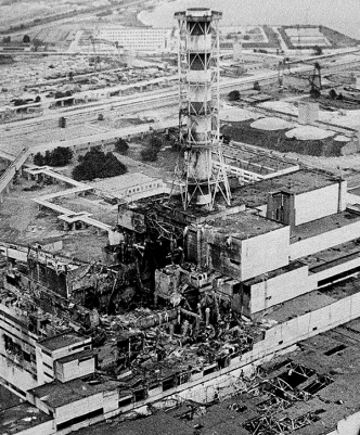 An aerial view of the Chernobyl nuclear power plant, the site of the world's worst nuclear accident. Photo courtesy of AP