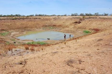A dried up lake in Queensland, Australia - just one example of the country's dropping water table